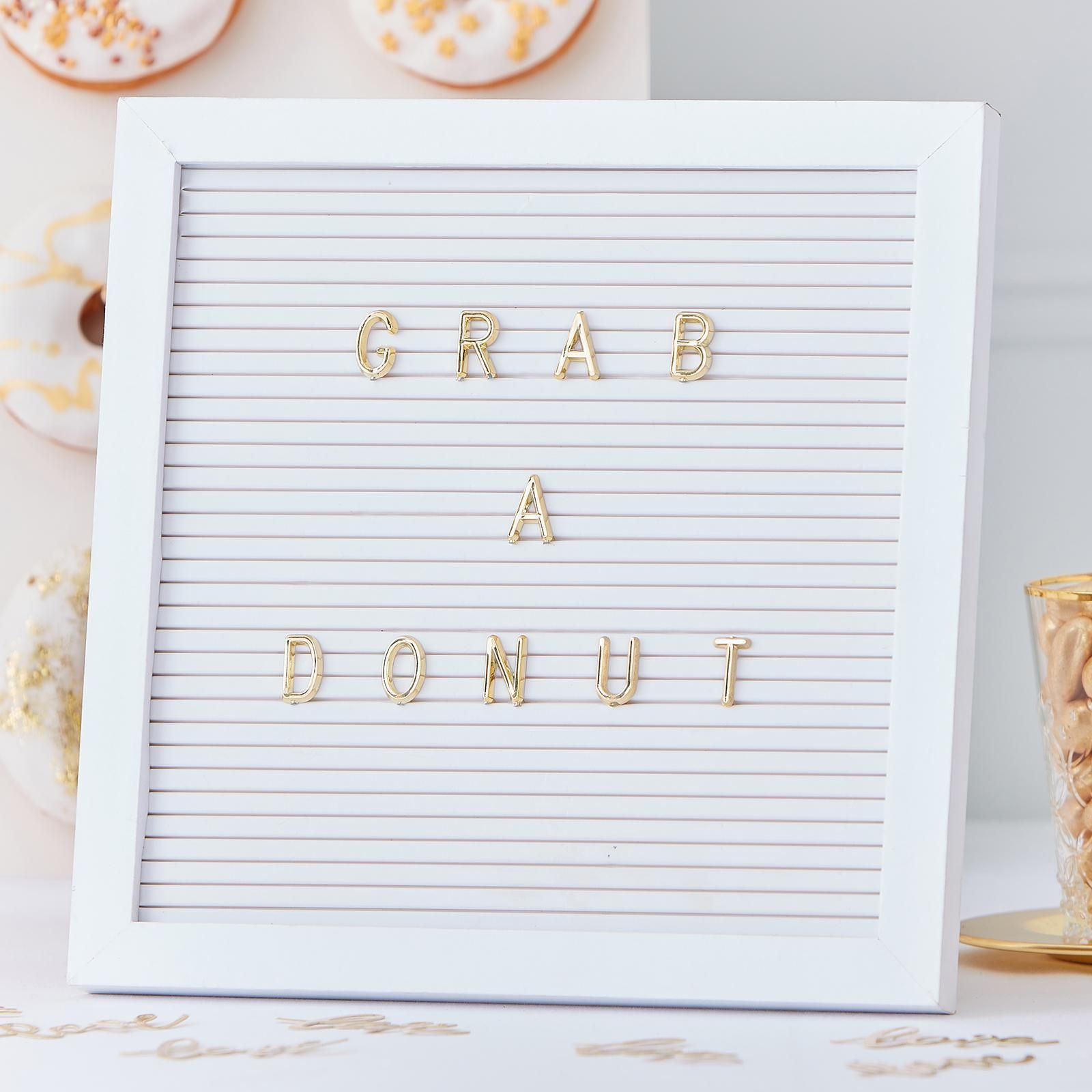 Ginger Ray, Gold Wedding White Peg Board with Gold Letters