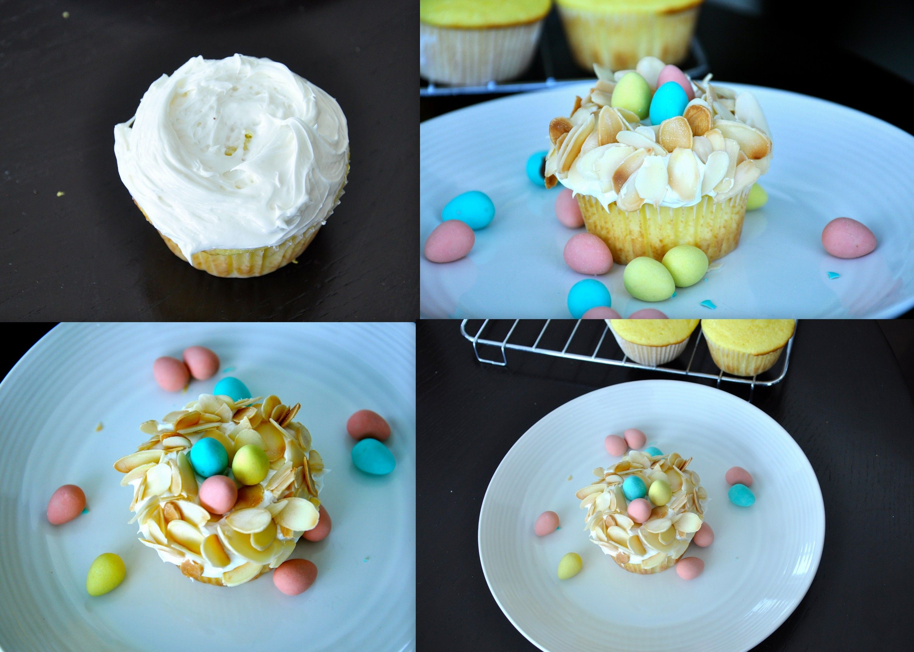 Lemon Coconut Easter Spring Cupcakes