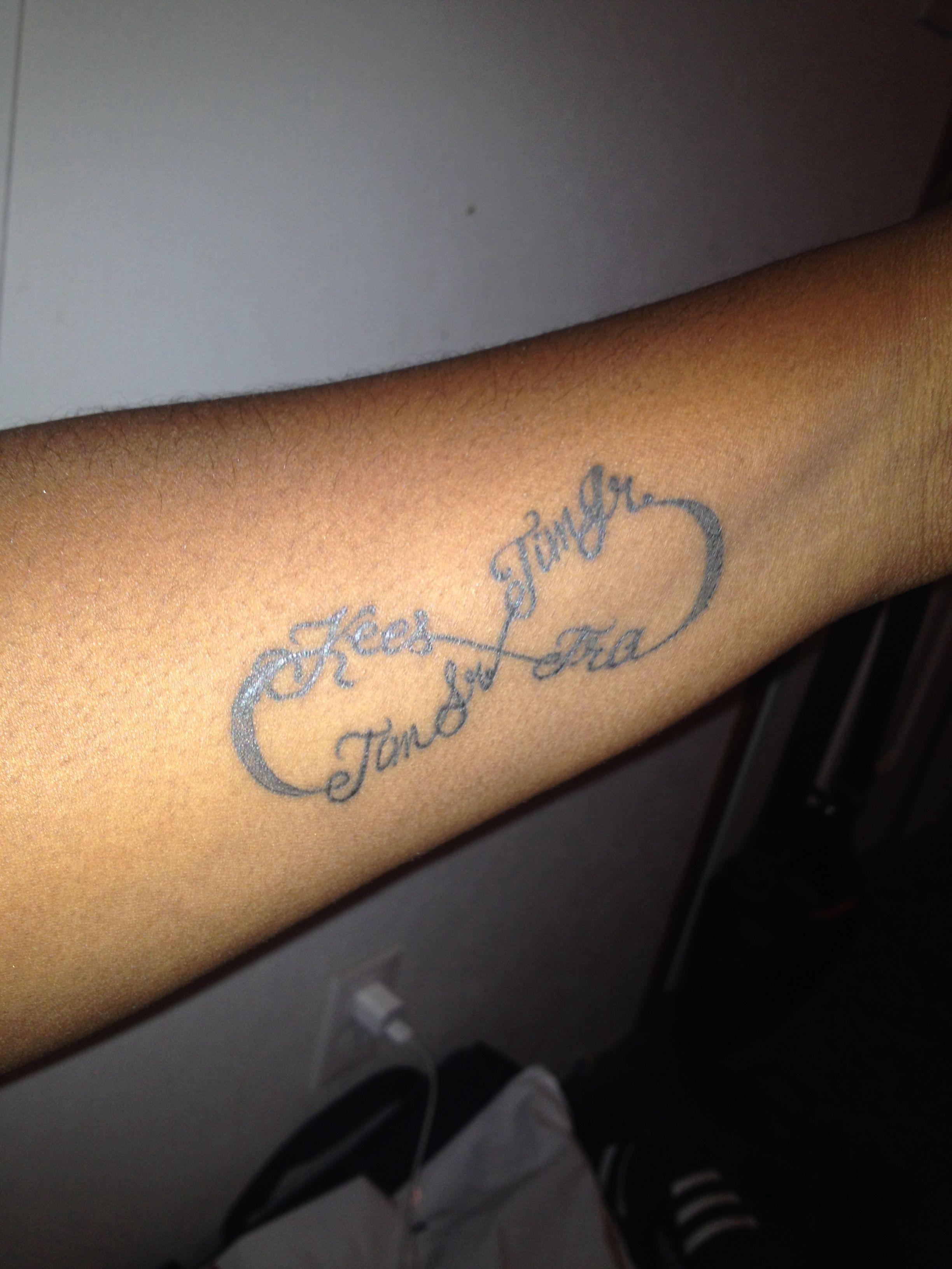 Infinity Tattoo With 3 Names : infinity, tattoo, names, Infinity, Symbol, Husband's, Engraved, Tattoos, Kids,, Mickey, Tattoo,