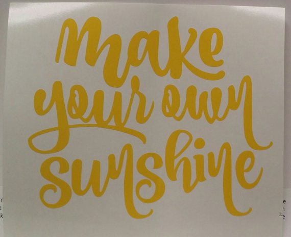 Make your own sunshine vinyl decal by keoweecreations on etsy