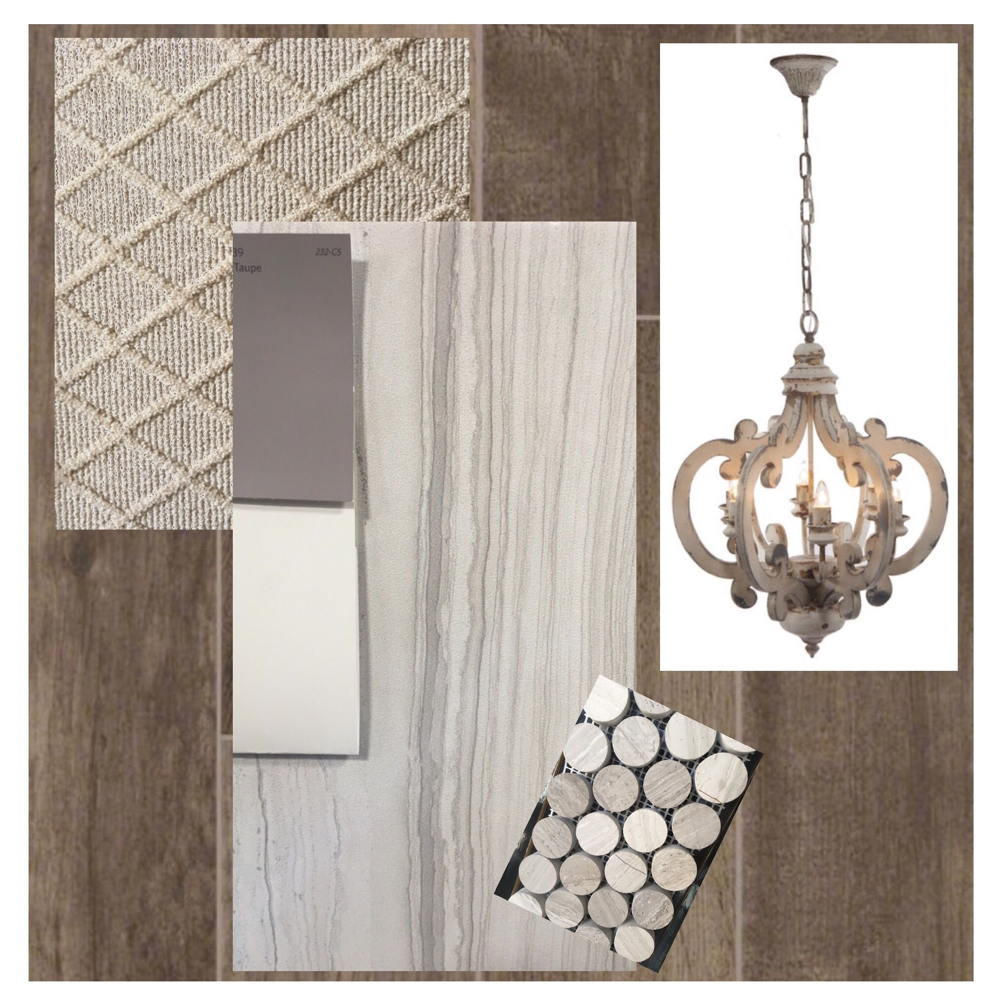 simply chic | porcelain tile, taupe and exotic