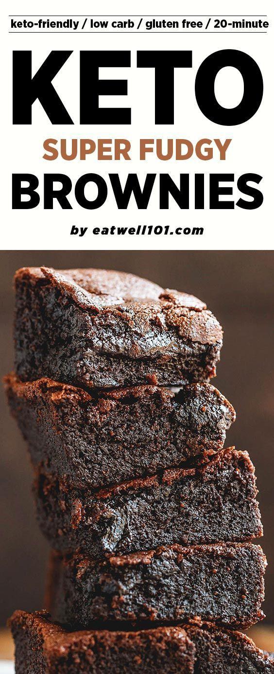 Low-Carb Keto Brownies Rezept - # eatwell101, # Rezept fudgy und super einfach zu machen ... - #Brownies #eatwell101 #Einfach #fudgy #Keto #lowcarb #LowCarb #machen #Rezept #Super #und #zu #ketocookierecipes