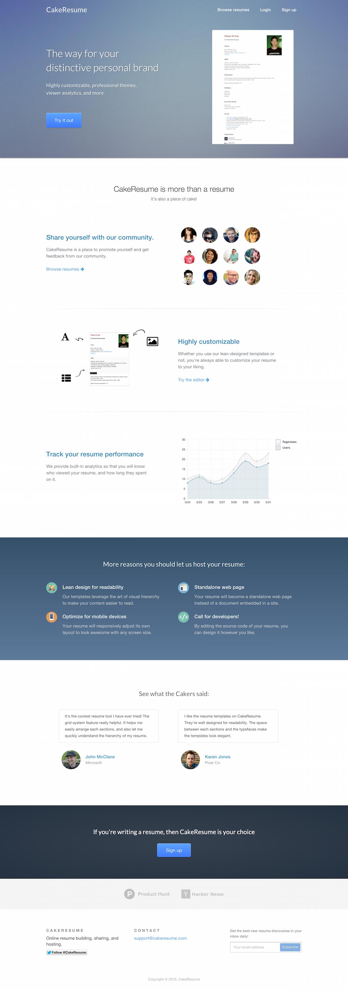 Online Resume Making Website