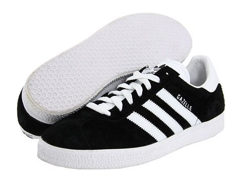 adidas black and white gazelle