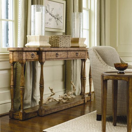 Caroline Console Table In Dune. Love The Driftwood Accent.