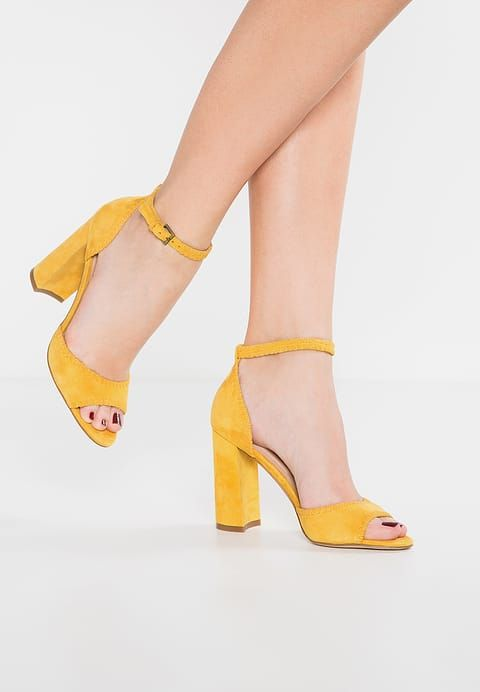 Aldo Embellished Mustard Heeled Sandals ImdXT4