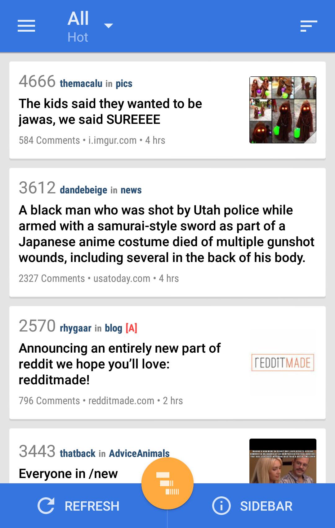 Reddit News Pro Android Lollipop App Material Design Listing Article