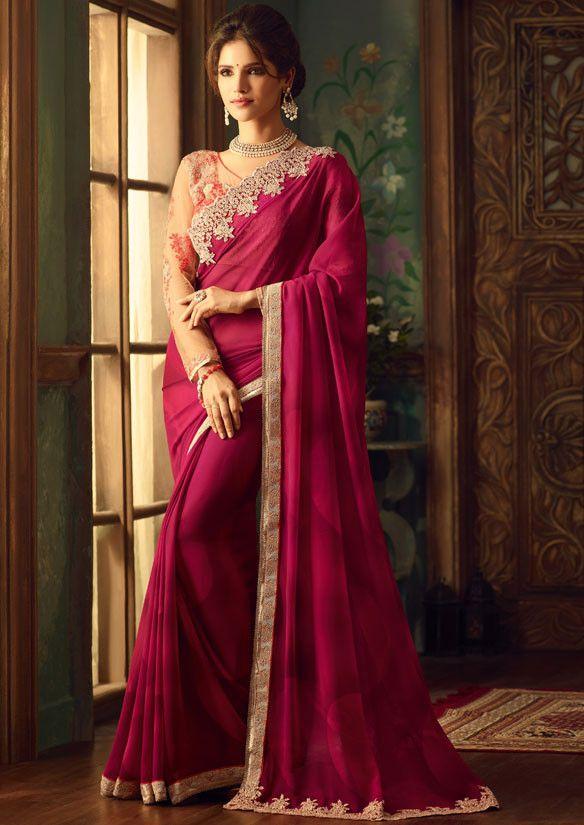 16f543fd6e Vivacious Wine Red #Saree Indian Sarees Online, Silk Sarees Online, Art Silk  Sarees