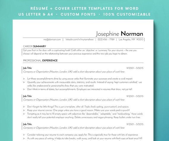 ATS Resume Template, Resume Template, Resume, CV, Resume for Word