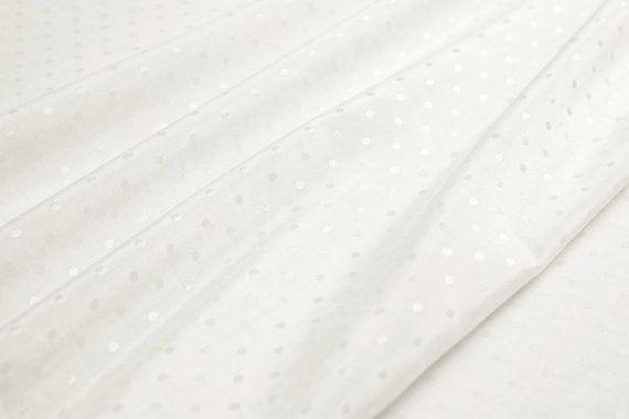 Jacquard Silk blends cotton fabricpolka dots pattern by LazyRuler