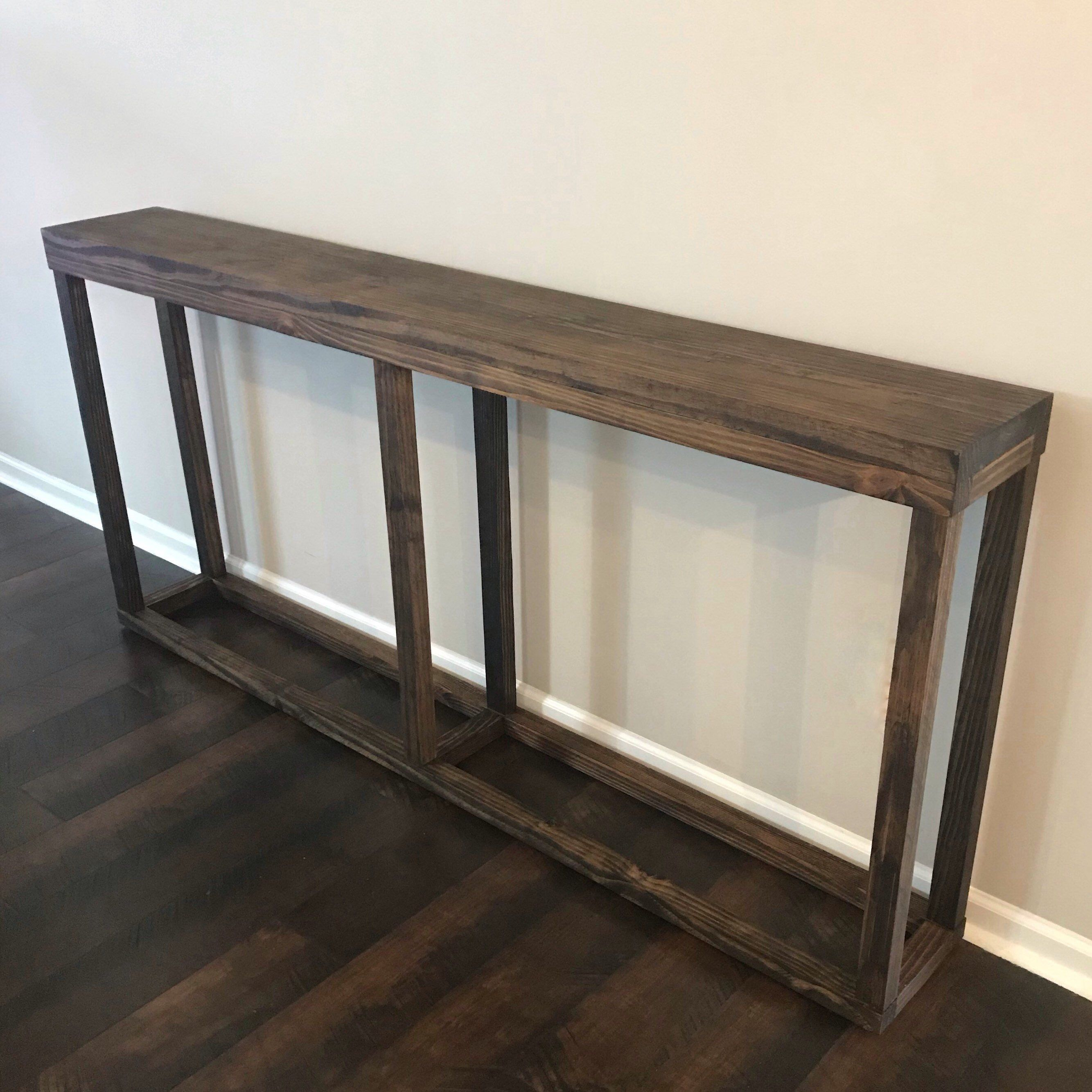 Excited To Share This Item From My Etsy Shop Long Console Table Narrow Console Table Skinny Con Narrow Console Table Table Behind Couch Behind Sofa Table