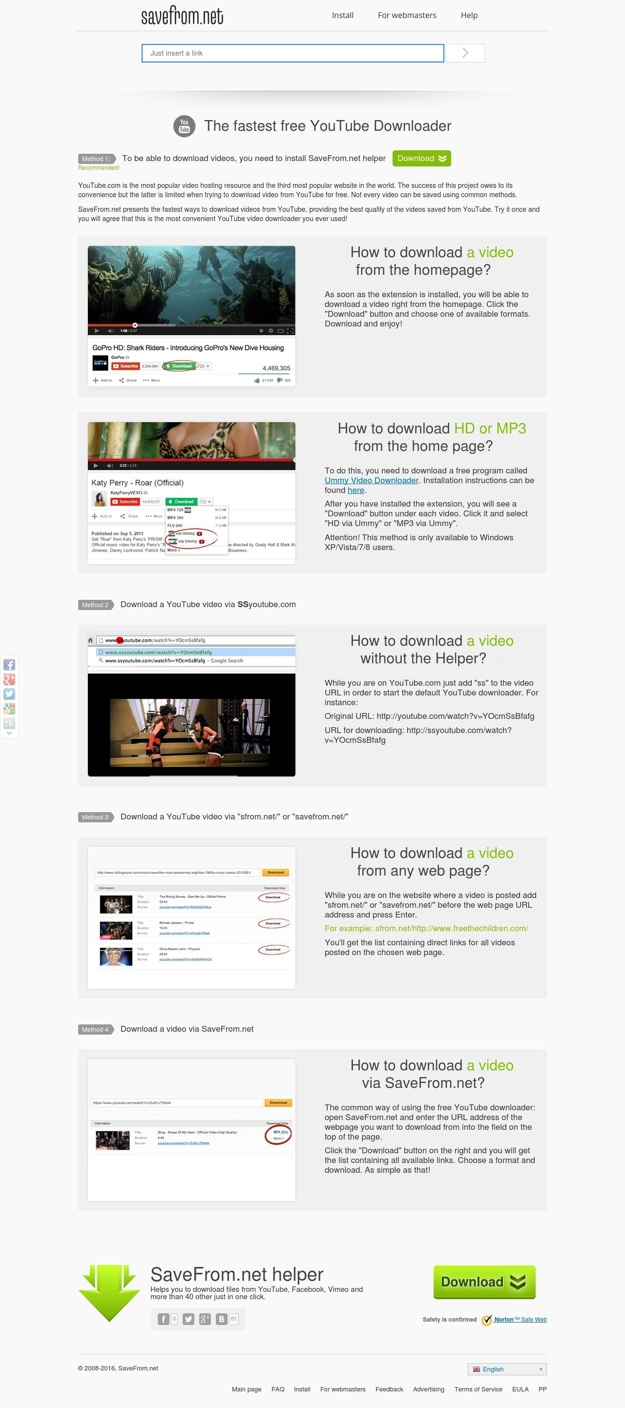 The fastest free YouTube Downloader - Savefrom net | Videos