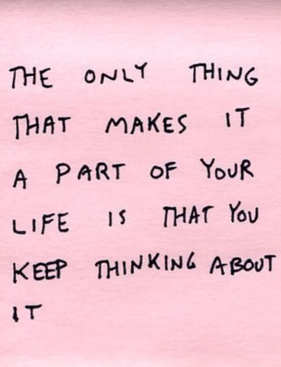 part of your life.