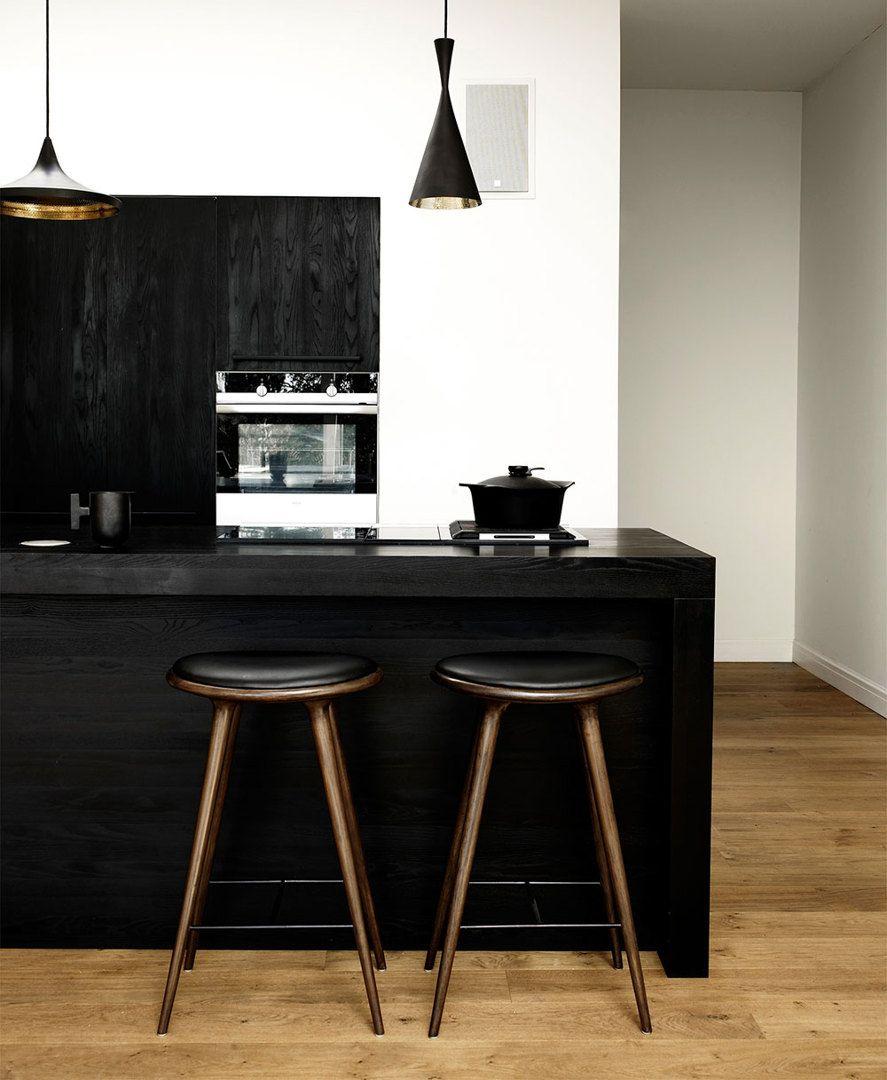 Mater high stool black danish design furniture
