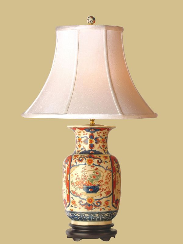 East Enterprises Imari Porcelain Vase Oriental Table Lamp With
