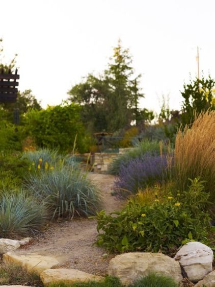 Lay Of The Landscape Cottage Garden Style Drought Tolerant Landscape Mediterranean Landscaping Landscape Design