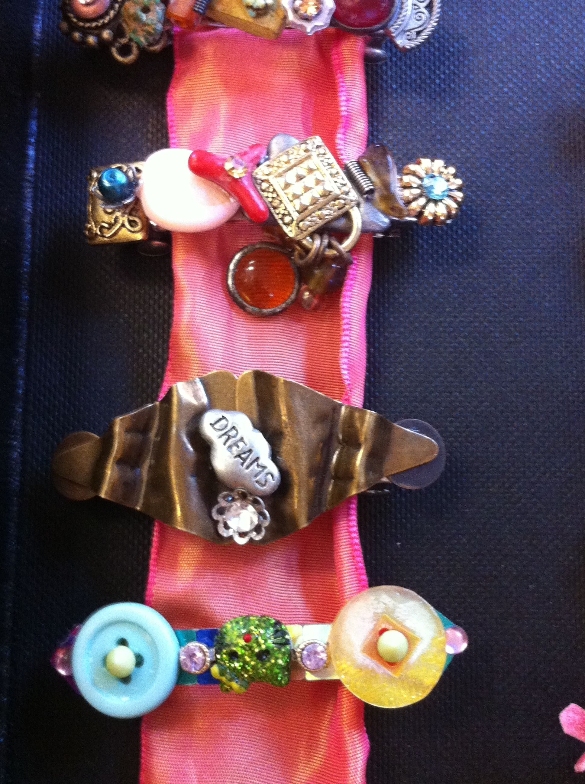 Mini Barrettes Too!!! Handmade hair barrettes--a truly one of a kind gift. Stop by 124A Grand Ave Mars PA 16046 Wednesday-Saturday 12-5pm to get your own!!!