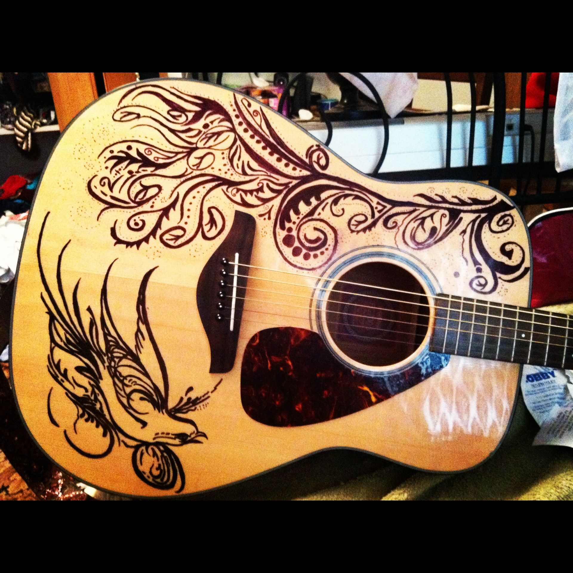 This Is My Guitar I Spent Forever Designing And Sketching Work Of Art On