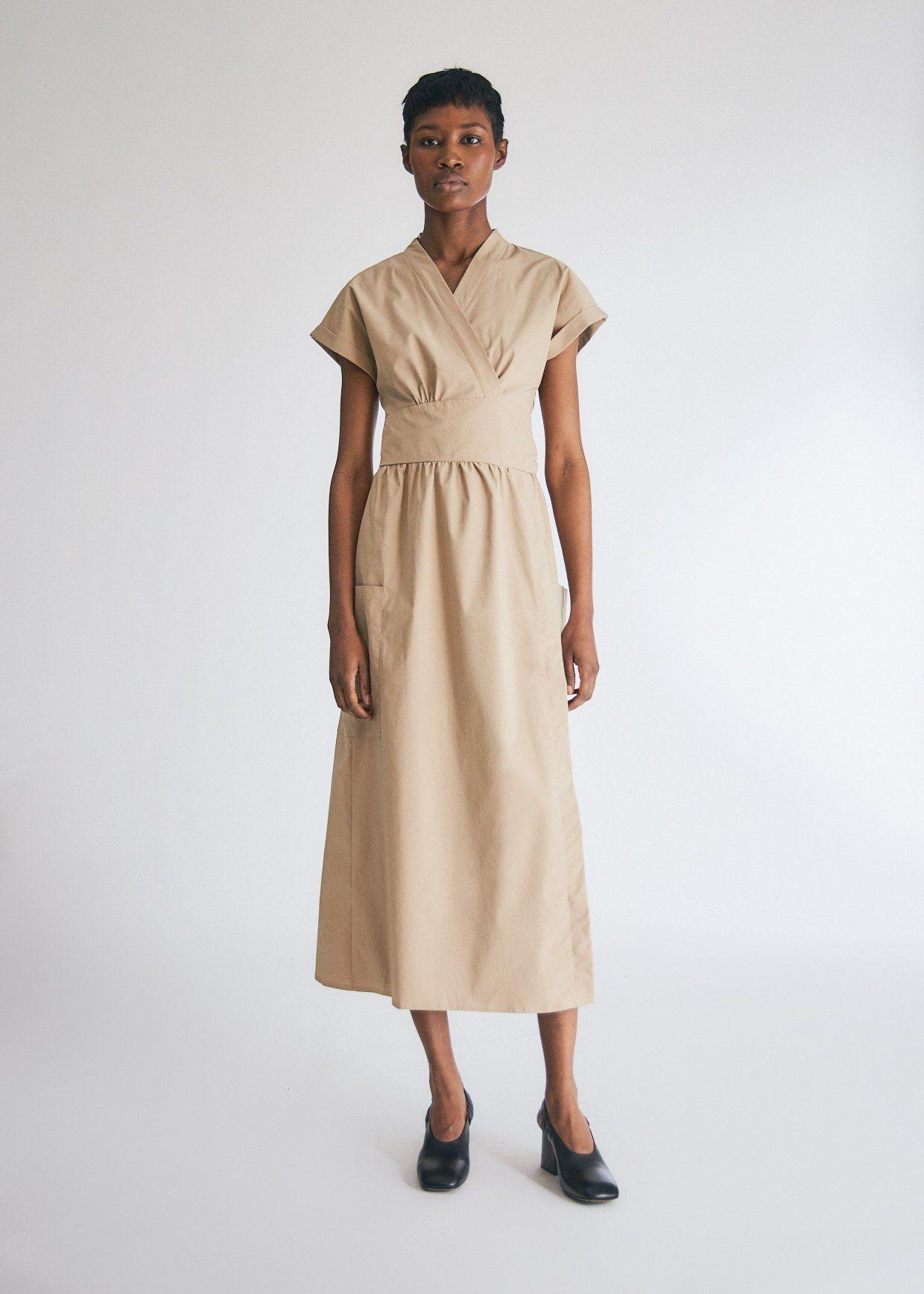 Need Garcia Wrap Dress In Tan Dresses Wrap Dress Tan Dresses [ 1736 x 1240 Pixel ]