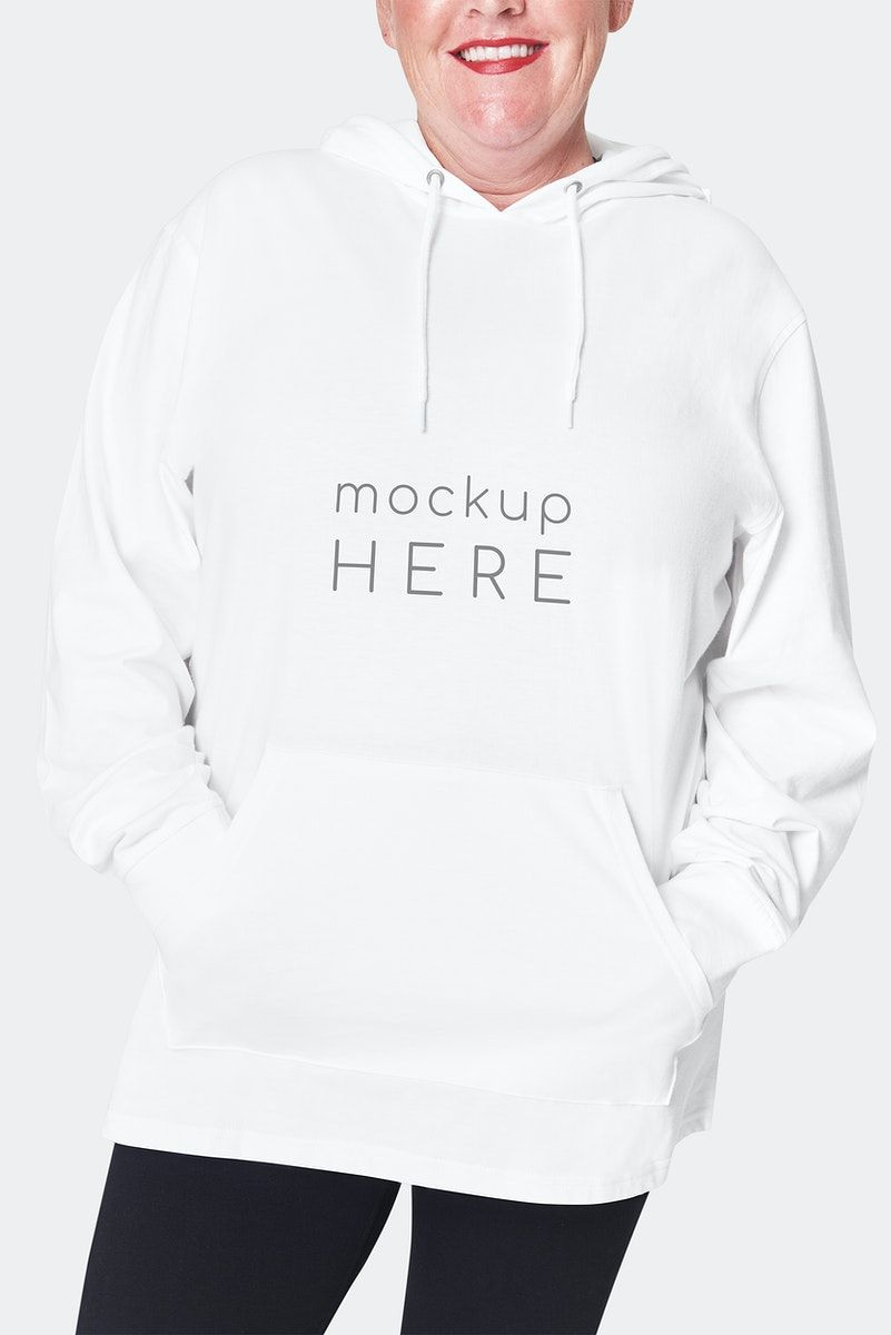 Download Download Premium Illustration Of Women S White Hoodie Mockup Psd Hoodie Mockup Clothing Mockup White Hoodie Women