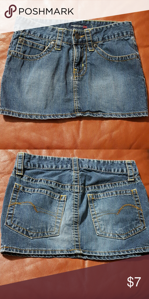 SALE 2/ $6 denim mini skirt Denim mini skirt American Eagle Outfitters Skirts Mini