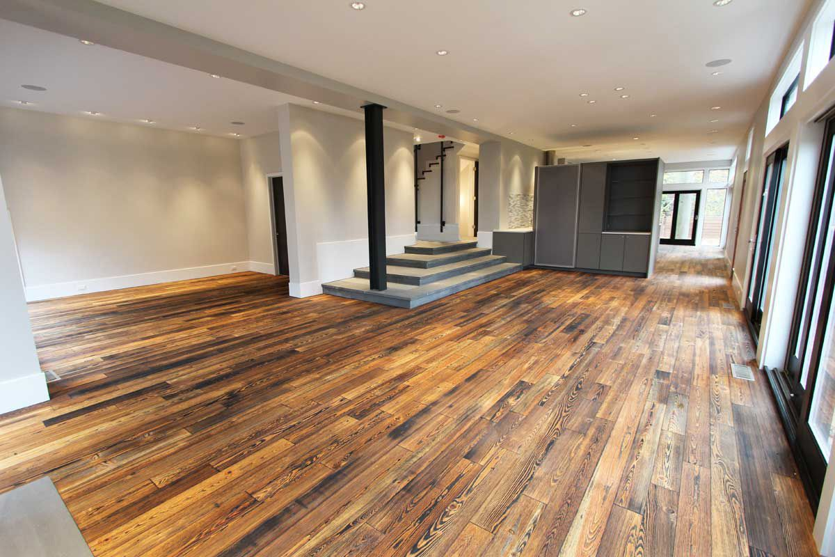Bengal engineered prefinished reclaimed heart pine wood Salvaged pine flooring