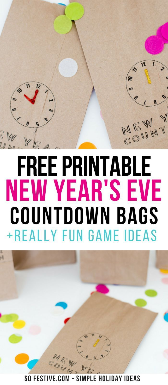 Free New Year's Eve Countdown Bag Printables!, bag
