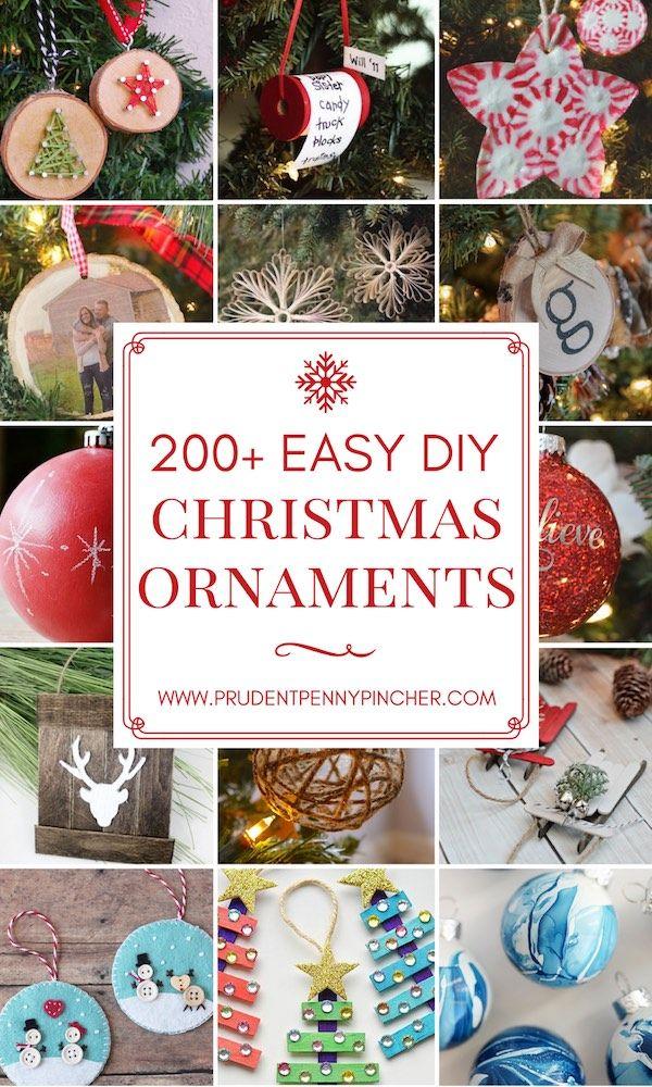 200 Easy Diy Christmas Ornaments 200 Easy DIY Christmas Ornaments Easy Diy Crafts easy diy christmas ornaments