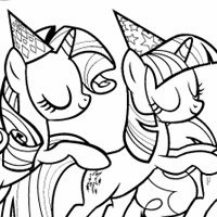 And MLP Characters In These Exciting Games Coloring Page Party Of One