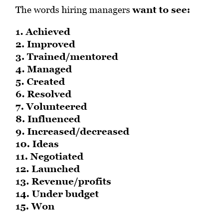 Resume Key Words According To Forbes
