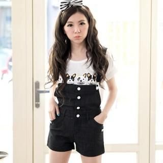 Buttoned Suspender Shorts from #YesStyle <3 Tokyo Fashion YesStyle.com