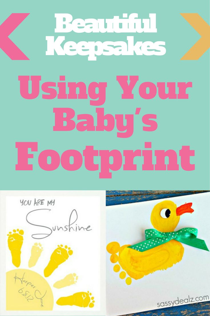 5 Beautiful Keepsakes Using Your Baby's Footprint : Wall art, bracelets, and more! #keepsakes #babyfeet #momcrafts | whattoexpect.com