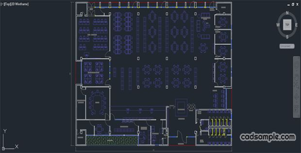 Library Plan Scheme Autocad Library Residential Detailed