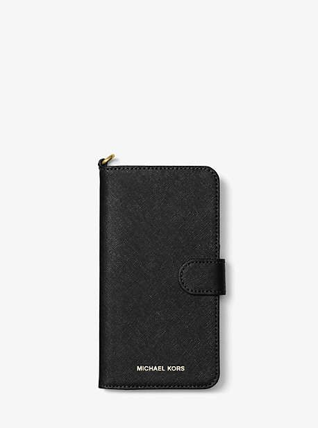 size 40 e00c9 51c59 Michael Kors Saffiano Leather Folio Phone Case For Iphone7/8 Plus ...