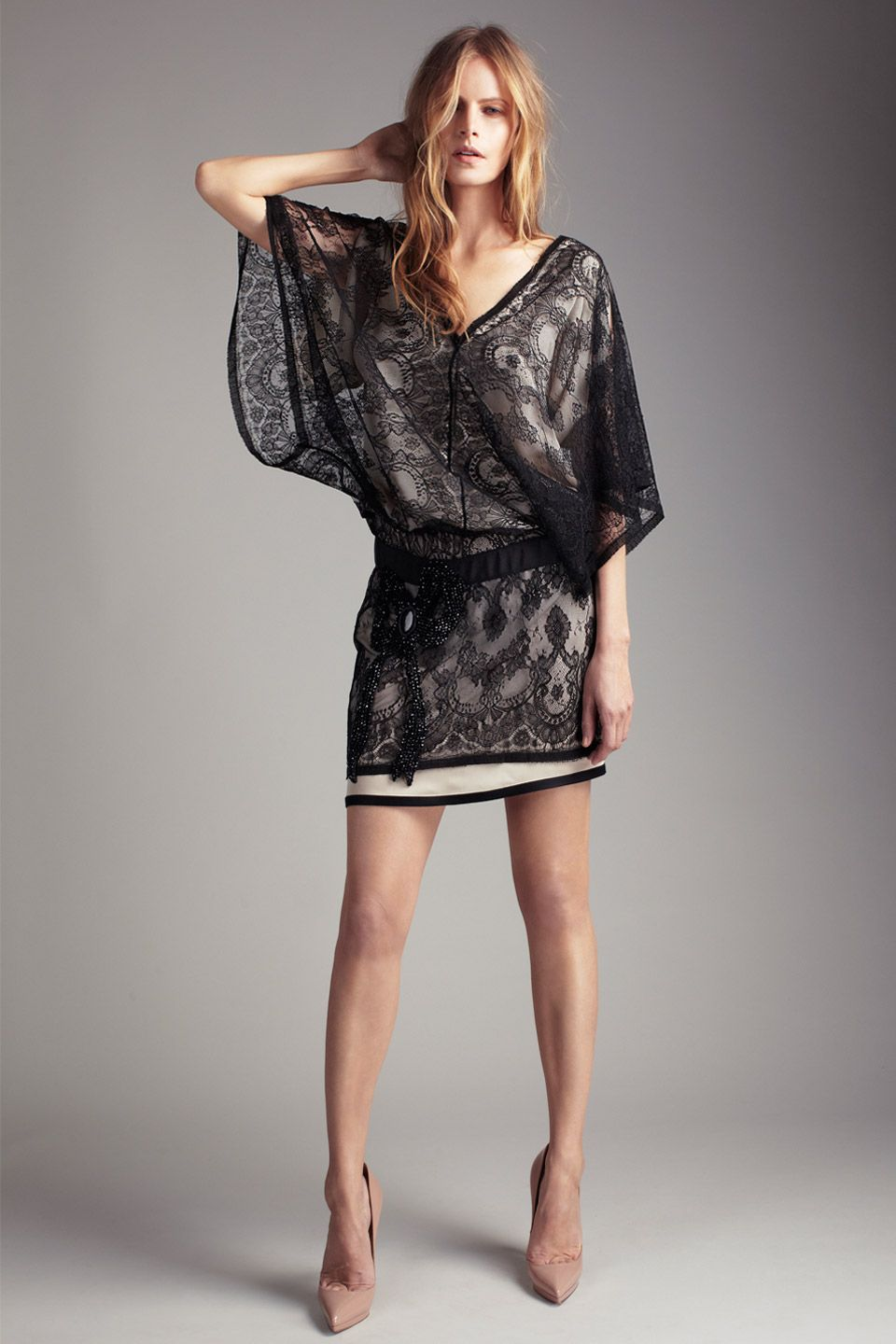 Collette Dinnigan. Cecile French Chantilly Lace Dress ...