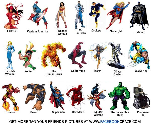 13 Geeky Facebook Friend Tagging Images Nombres De Superhéroes Imágenes De Superhéroes Cartel De Superhéroes
