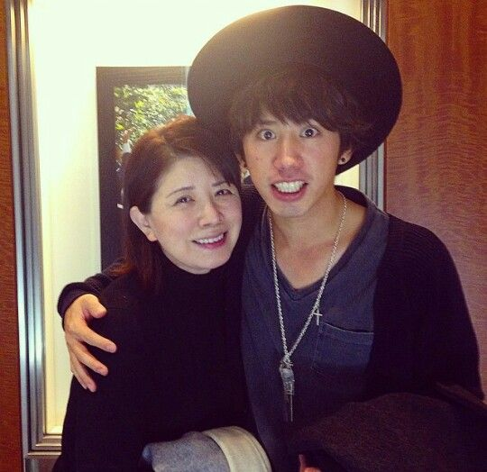 Taka with his mom (AKA: my future mother-in-law)