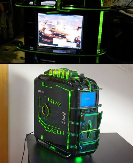 Best Custom Pc Cases Cosmos Dragon Pc Has Built In Lcd