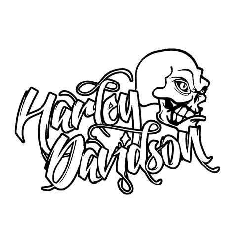 Harley Davidson Laptop Car Truck Vinyl Decal Window Sticker PV231 ...