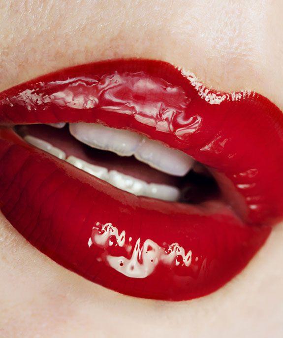Pink lipstick fetish horny