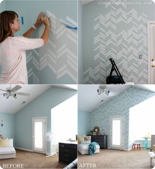 Scattered Herringbone Wall Decal   Thehouseofsmithsdesigns.com