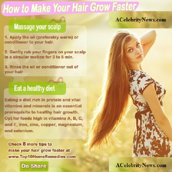 How to make your hair grow longer in a week at home