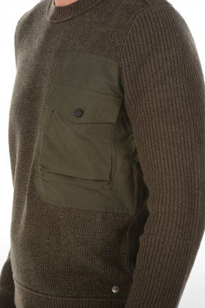 Boss Orange sweater Arese 301 Dark Green 50249455 30 301 Dark Green » JeansandFashion.com