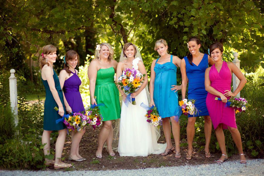Dc Wedding Blog Shares Examples Of Nonmatching Bridesmaids Capitol Romance Bridesmaid Dresses Bridesmaid Blue Bridesmaid Dress Summer