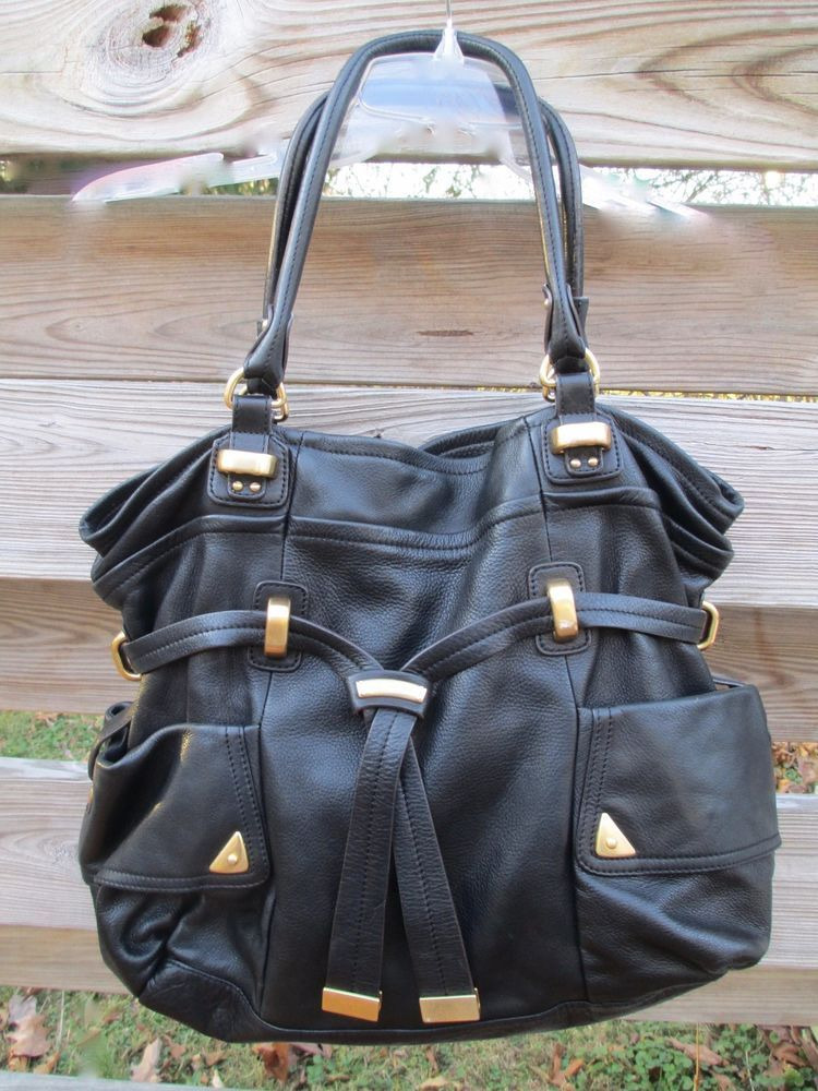 bec051a1a38 B MAKOWSKY Soft Glove Leather Eden Shopper Tote Bucket Hobo Handbag   BMakowsky  BucketBag