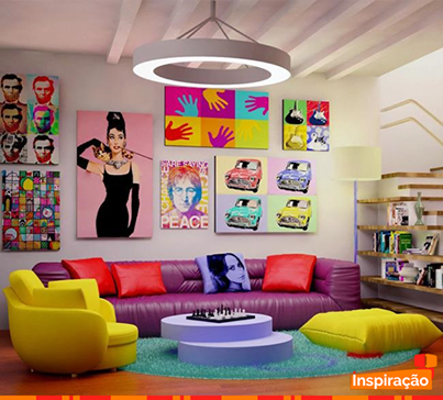 Para quem curte uma #decoração mais moderna e descolada, o estilo Pop Art é perfeito, pois trás cores vibrantes, estampas modernas e traços intensos em suas criações. O que acha?