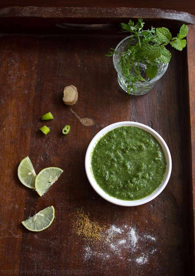 Mint Coriander Chutney | Veg Indian Recipes | healthy, vegan (This will be to go with the pakora.)