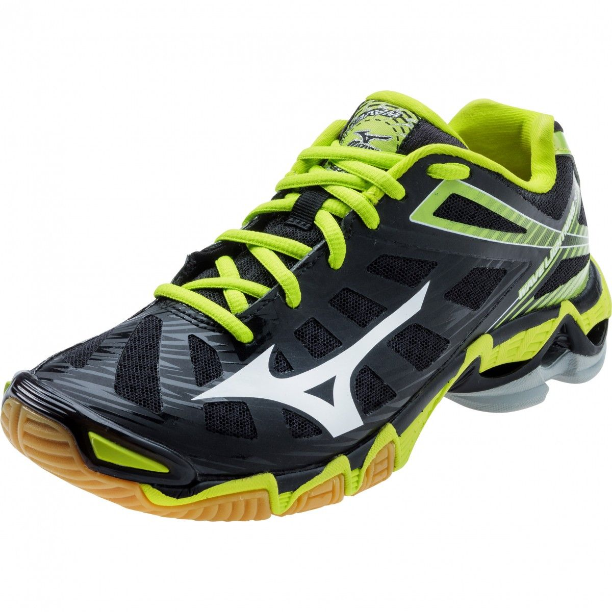 Mizuno Wave Lightning Rx3 Women S Volleyball Shoes Black Lime Best Volleyball Shoes Volleyball Shoes Women Volleyball