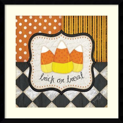 The Holiday Aisle Trick or Treat Halloween Framed Graphic Art