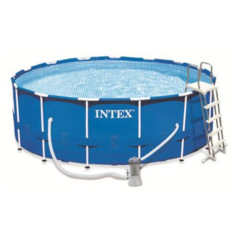 Intex Kit Piscine Tubulaire Metal Frame Ronde Diam 4 57m H 1 22m A Prix Au Piscine Metal Piscine Tubulaire Piscine Intex